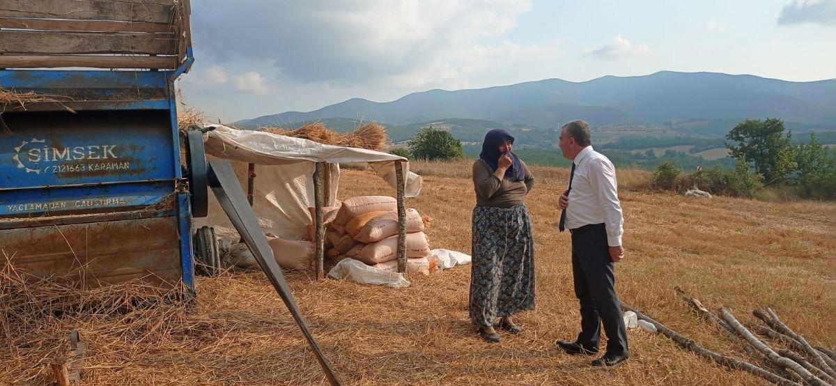 Havza Belediye Başkanı Özdemir'den Harman Ziyareti