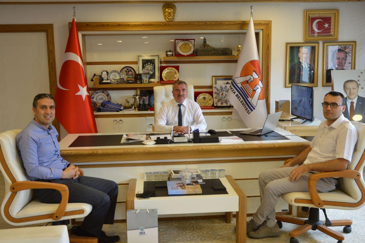 Oka Genel Sekreteri Şahin'den Havza Belediye Başkanı Özdemir Ziyaret