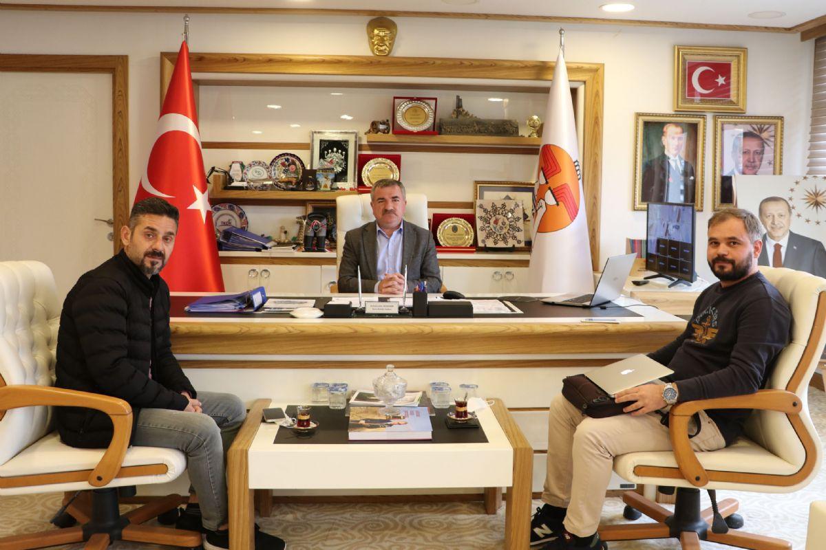 Anadolu Ajansından Havza Belediye Başkanı Özdemir'e Ziyaret