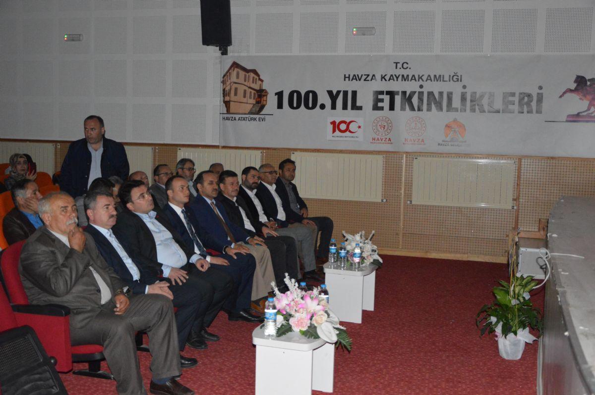 Havza'da, Atatürk ve Silah Arkadaşlarının Samsun'a Çıkışının ve Havza'ya Gelişinin 100. Yılı Dolayısıyla 'bir Hilal Uğruna Ya Rab… 'isimli Tiyatro Gösterisi Sahnelendi.