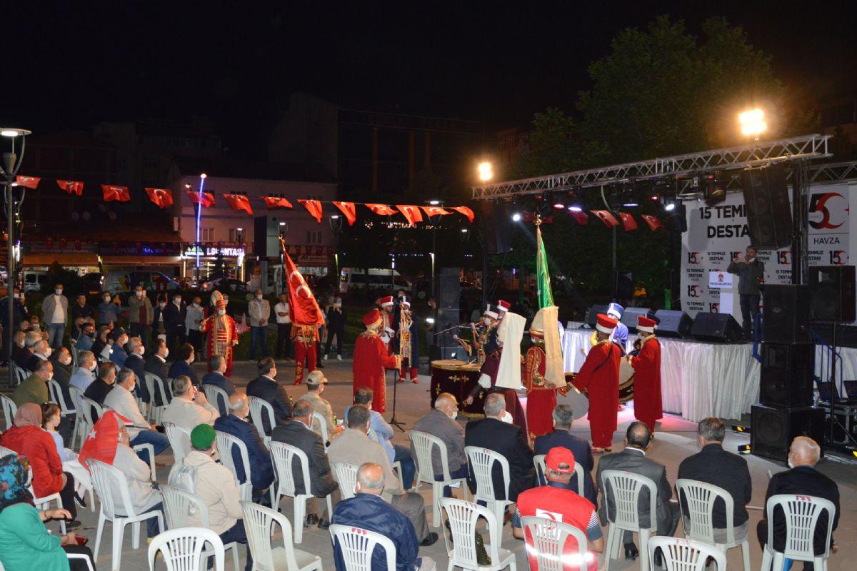 Havza'da 15 Temmuz Demokrasi ve Milli Birlik Günü Coşkusu