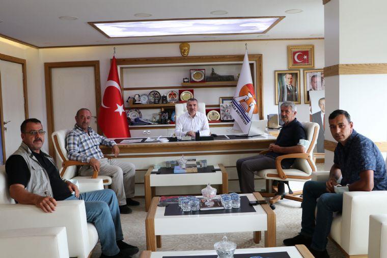 Havza Ziraat Odası Başkanı Genç'den Havza Belediye Başkanı Özdemir'e Ziyaret