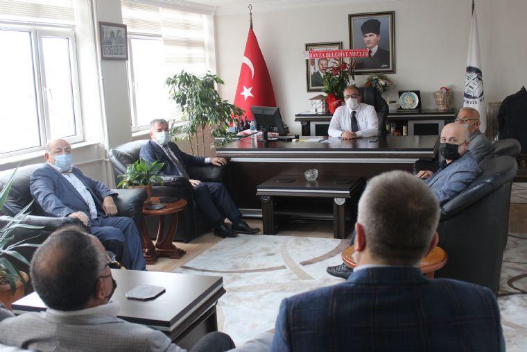 Havza Belediye Başkanı ve Meclis Üyelerinden Kaymakam Nayman'a Ziyaret