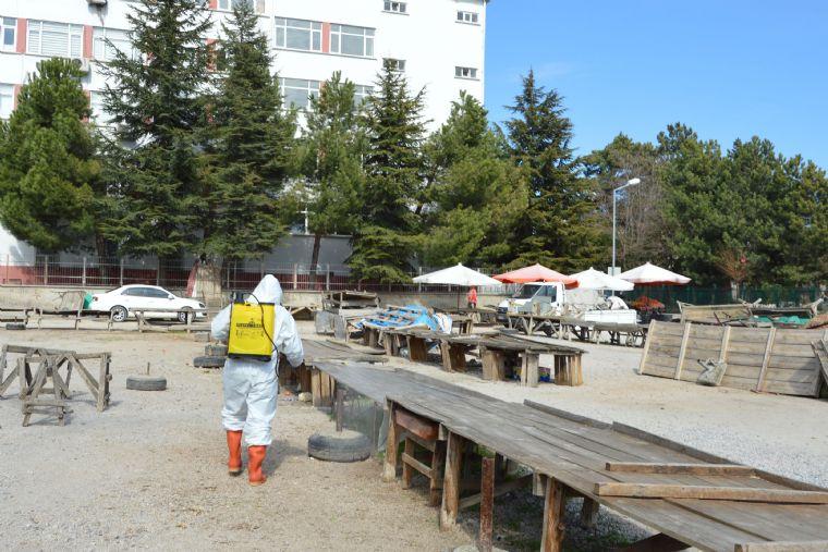 Havza'da Pazar Yeri Dezenfekte Edildi