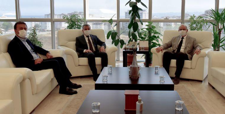 Havza Belediye Başkanı Özdemir ve Ak Parti İlçe Başkanı Kayan'da Ömü'ye Ziyaret