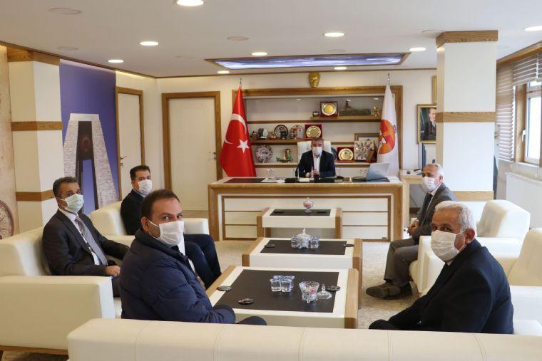 Tcdd Sivas Bölge Heyetinden Havza Belediye Başkanı Özdemir'eziyaret