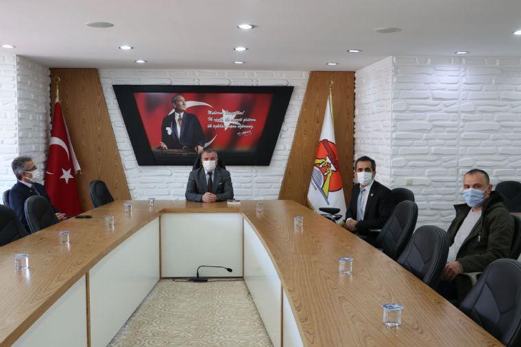 Yeniden Refah Partisinden Belediye Başkanı Özdemir'e Ziyaret