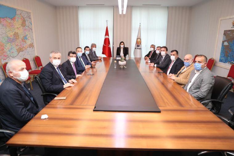 Samsun Heyetinden Ak Parti Genel Başkan Yardımcısı Karaaslan 'ziyaret