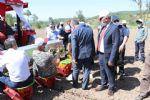 Başkan Özdemir Traktör ile Ekim Yaptı